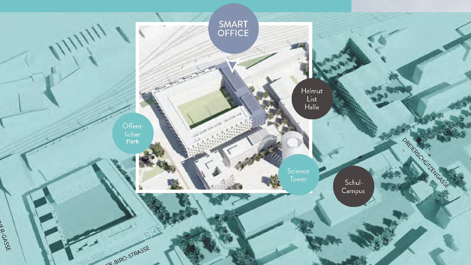 Smart City Mitte, Lageplan Smart Office
